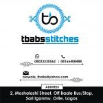 t-babs stitches logo