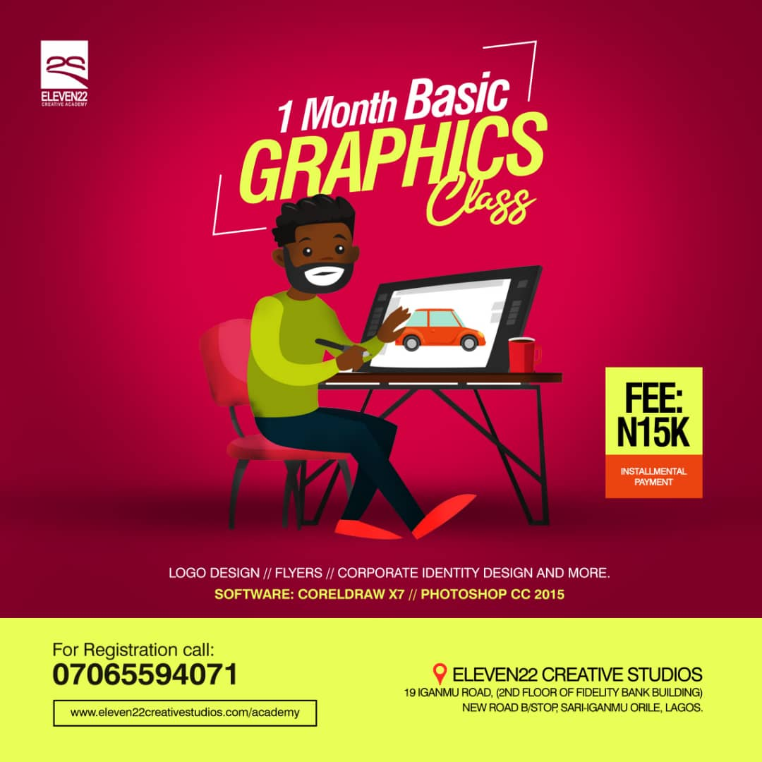 1 Month Basic Graphic Design Training - Eleven22 Creative