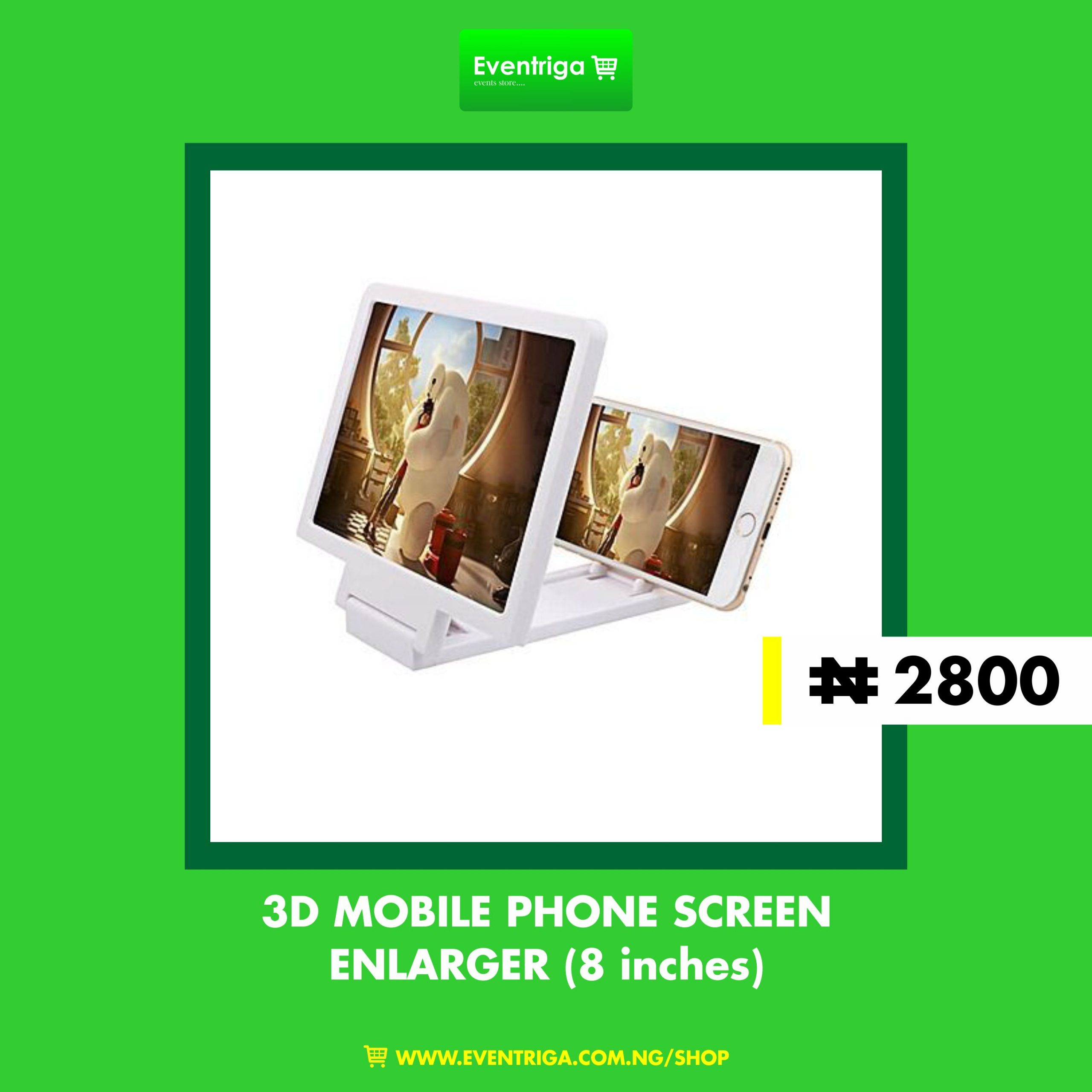 3D Screen Enlarger For Mobile Phone (8 inches)