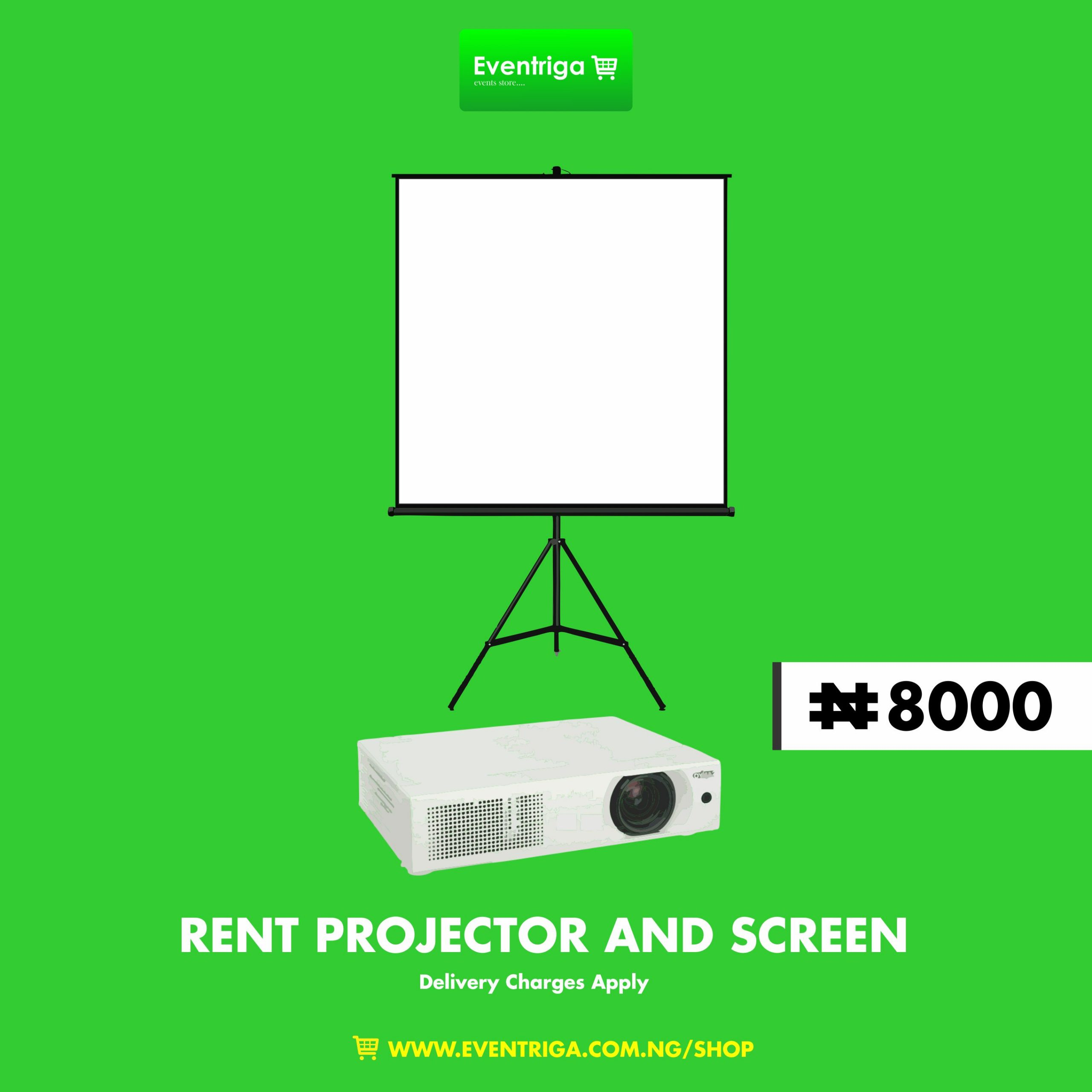 Rent Projector And Projector Screen