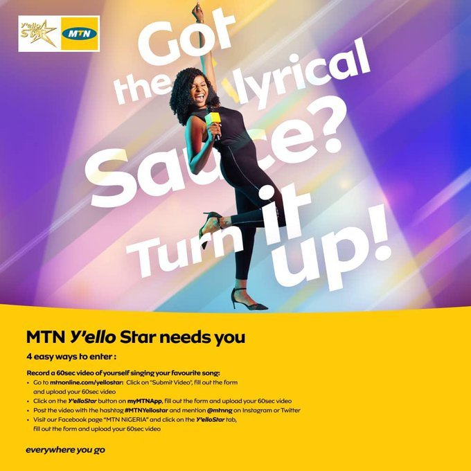 MTN Yello Star: details and registration